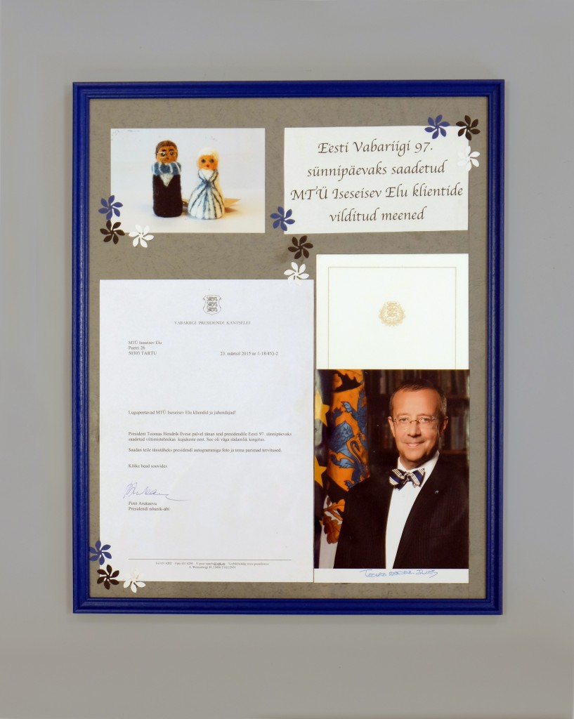 presidendi autogrammiga foto